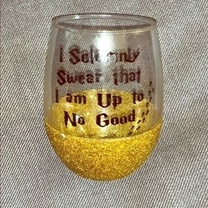 Harry Potter stemless wine glass